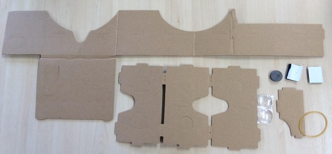 Cardboard virtual reality pack