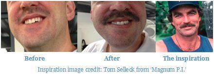 Richard's Movember effort