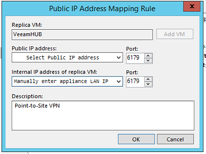 Veeam Address Mapping Rule