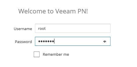 Veeam PN configuration