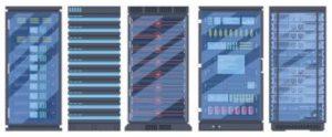 Row of 5 servers
