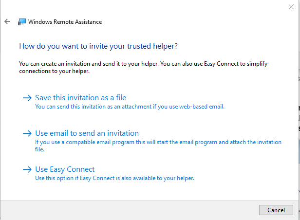 How to send a Remote Assistance Invitation - How to invite a trusted helper