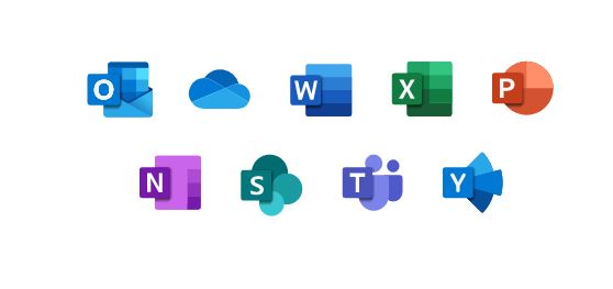 MS365 icons - Microsoft Office 365 backup